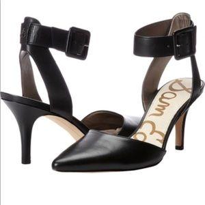 Sam Edelman Okala Leather Ankle-Wrap Pump in Black